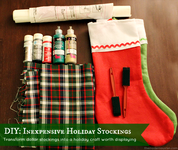 DIY Inexpensive Holiday Stockings