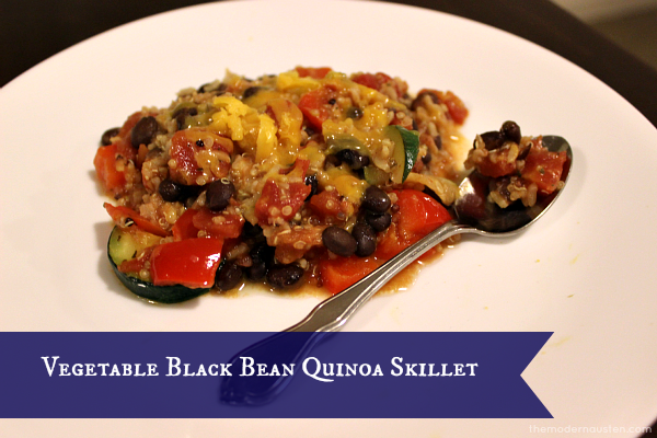 Vegetable Black Bean Quinoa Skillet