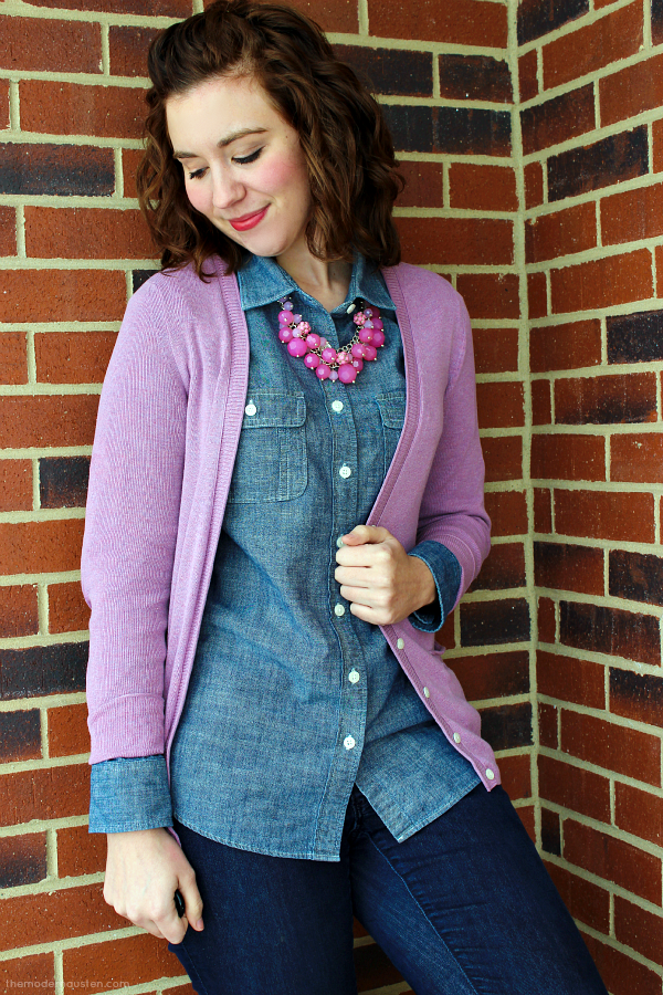 Chambray-Lavender-Cardigan-Jeans-Boots-2