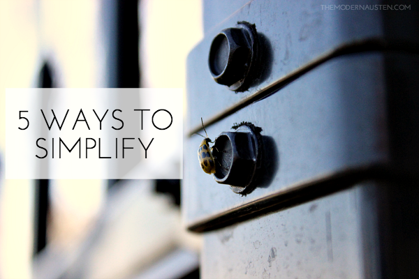5 Ways to Simplify