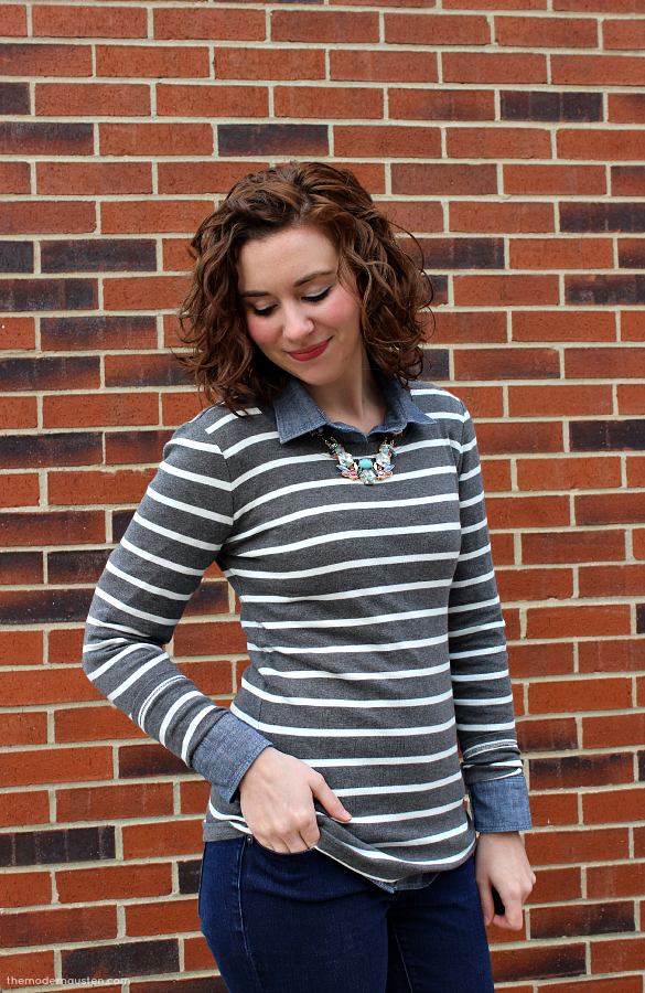 Stripes-Chambray-Jeans-Statement-Necklace-3
