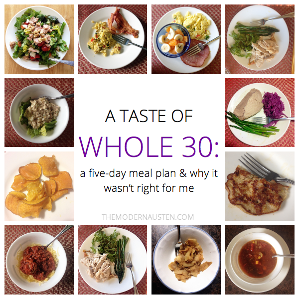 Whole30-5-Day-Meal-Plan, Whole-30, recipes, food, eating-clean, healthy-eating