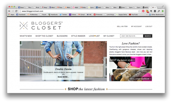 Bloggers Closet Homepage