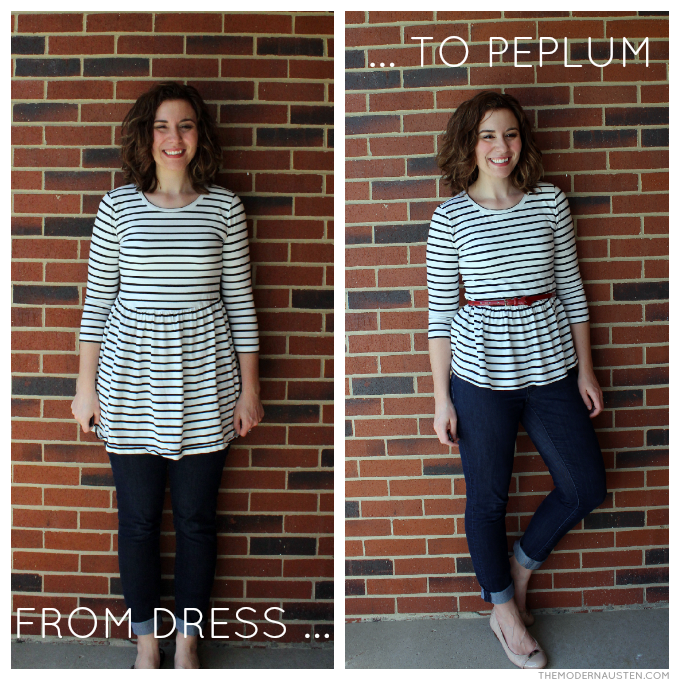 From Dress to Peplum DIY refashion