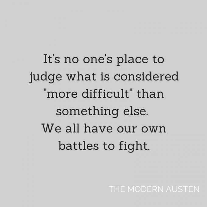 Own Battles to Fight