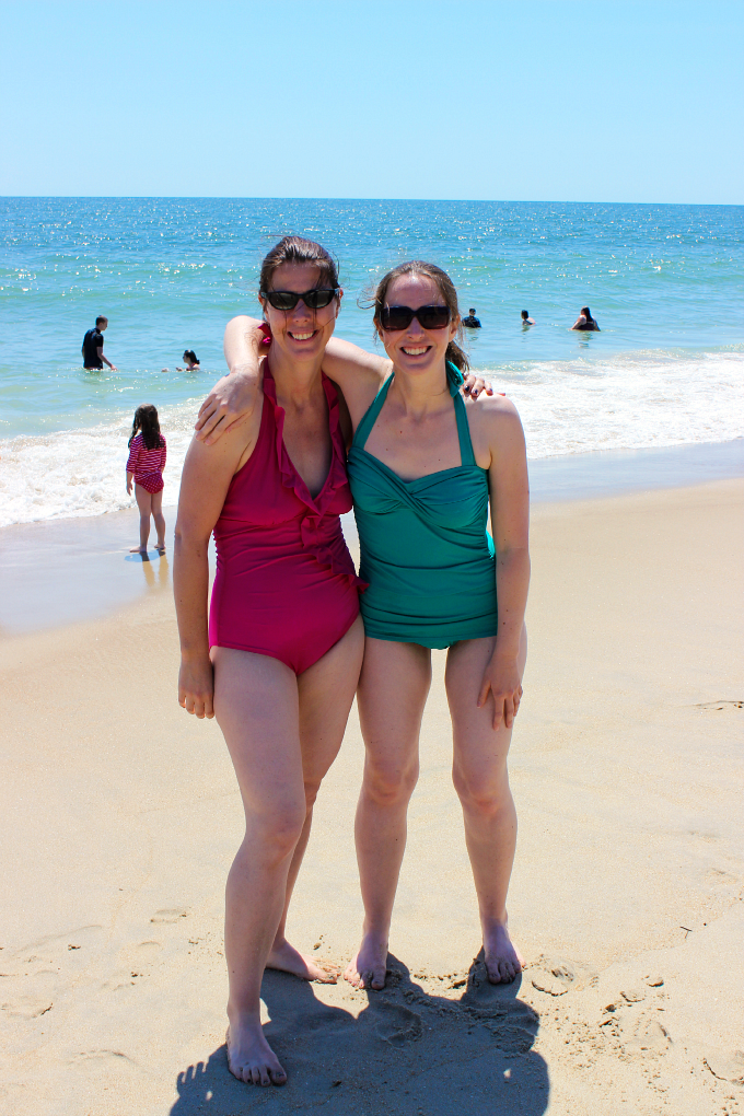 Becky and Katie at the Beach