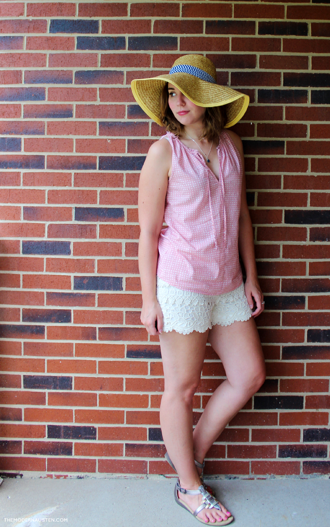 Embrace summer with a floppy hat and subtle textures