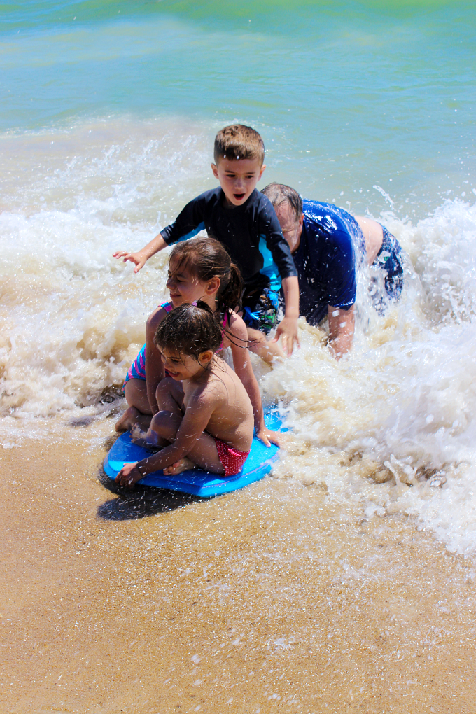 Kids on the Boogie Board