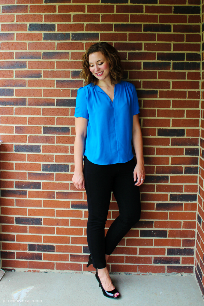 Received this stunning cobalt blue blouse in my latest StitchFix