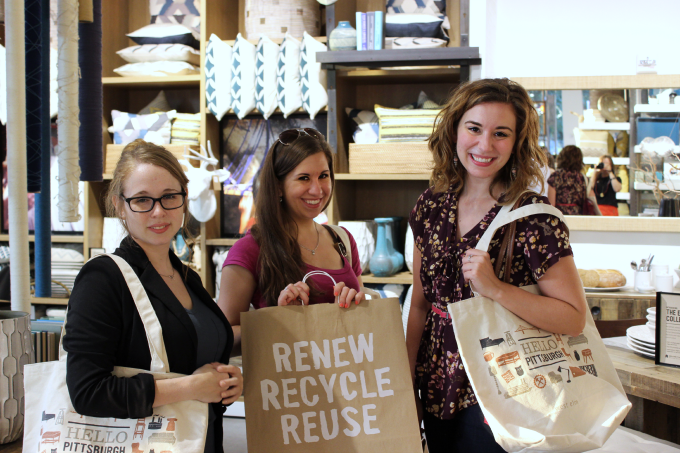 Bloggers at West Elm Pittsburgh Media Preview