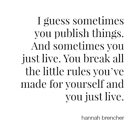 Hannah Brencher quote