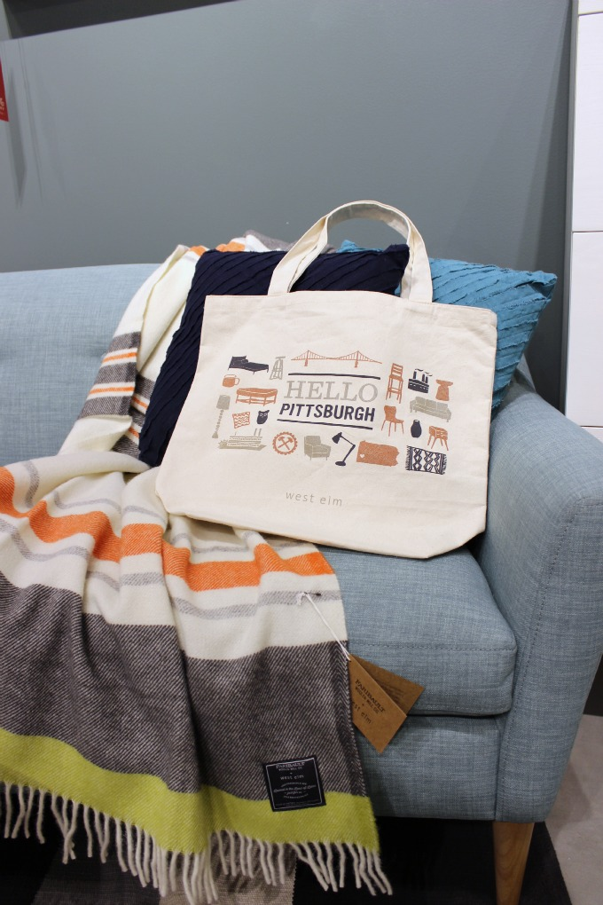 Limited Edition Hello Pittsburgh Canvas Tote Bag from West Elm in Bakery Square