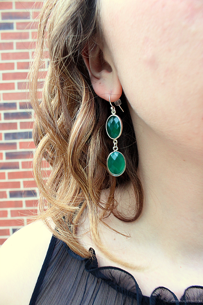 MDC Artistic Designs Natural Green Onyx Statement Earrings