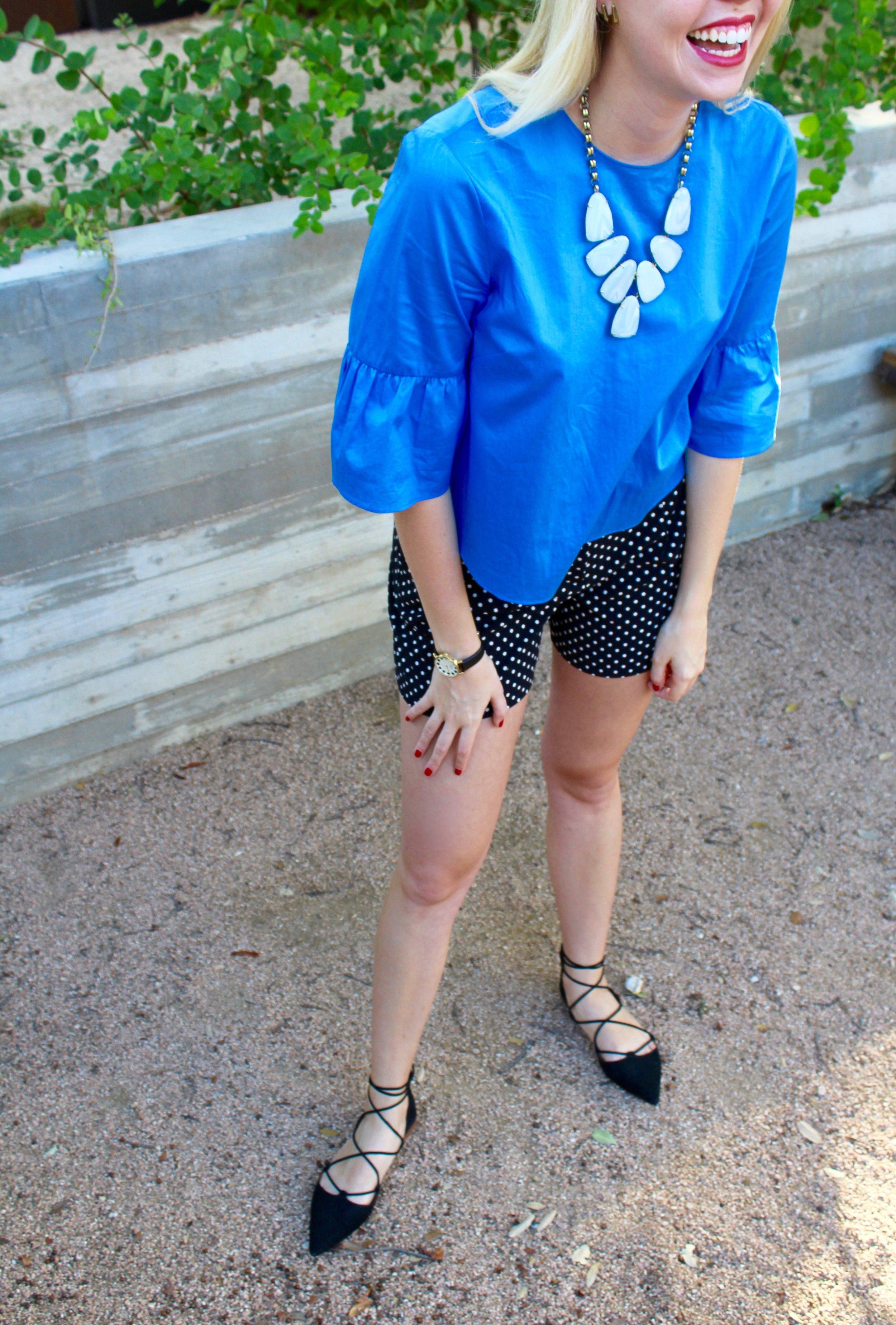 natrual & edited blue top