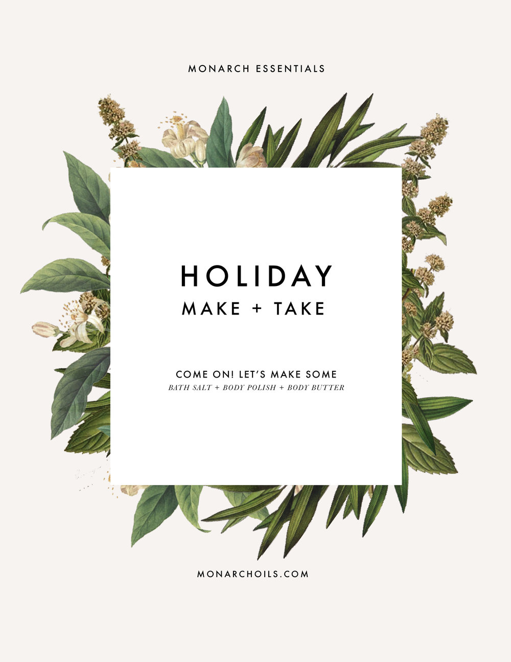 Minneapolis ladies! We're gathering for an event we're calling the Holiday Make + Take! - Learn the basics of what's actually in those little bottles of wonder, what they actually are, and how you can use them in your everyday life. - Make three step-by-step DIY self-care products with essential oils. Give them as a holiday gift to someone you love, or pamper yourself! - Connect with like-minded, local ladies at one of our favorite Minneapolis hot spots, Rustica! You must REGISTER in order to claim your seat and products at the event. REGISTER by 11/29!