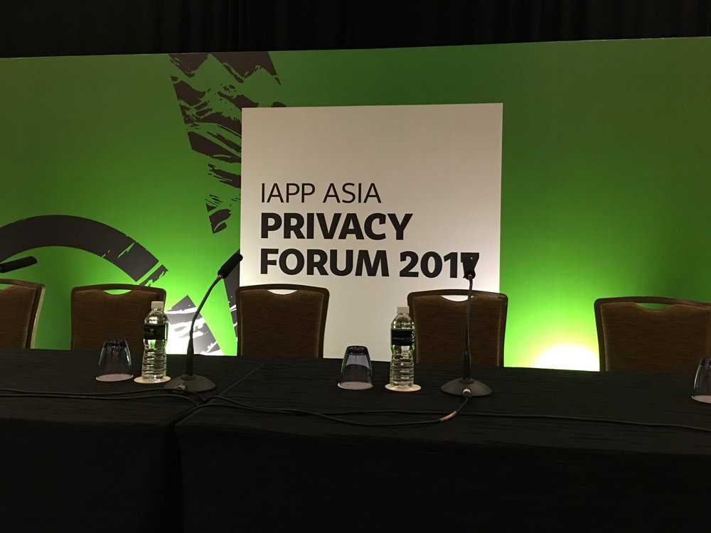 leading privacy professional certification body holds Singapore conference (author's photo)