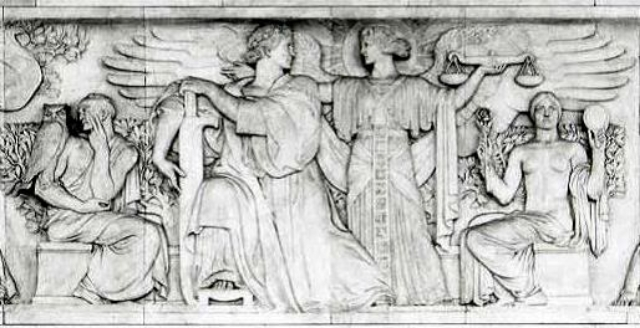 "image of ""divine inspiration"" facing the U.S. Supreme Court justices (public domain)"