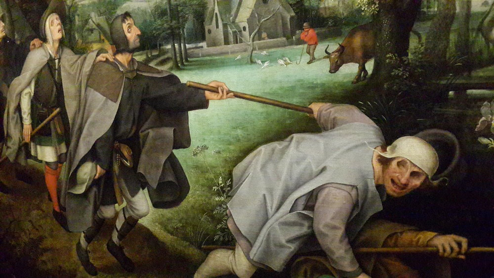 famous painting about the blind leading the blind from the House of Liechtenstein's private collection (author's picture)