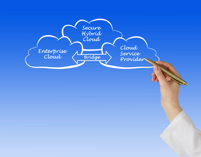 data management via hybrid cloud (Getty Images license)
