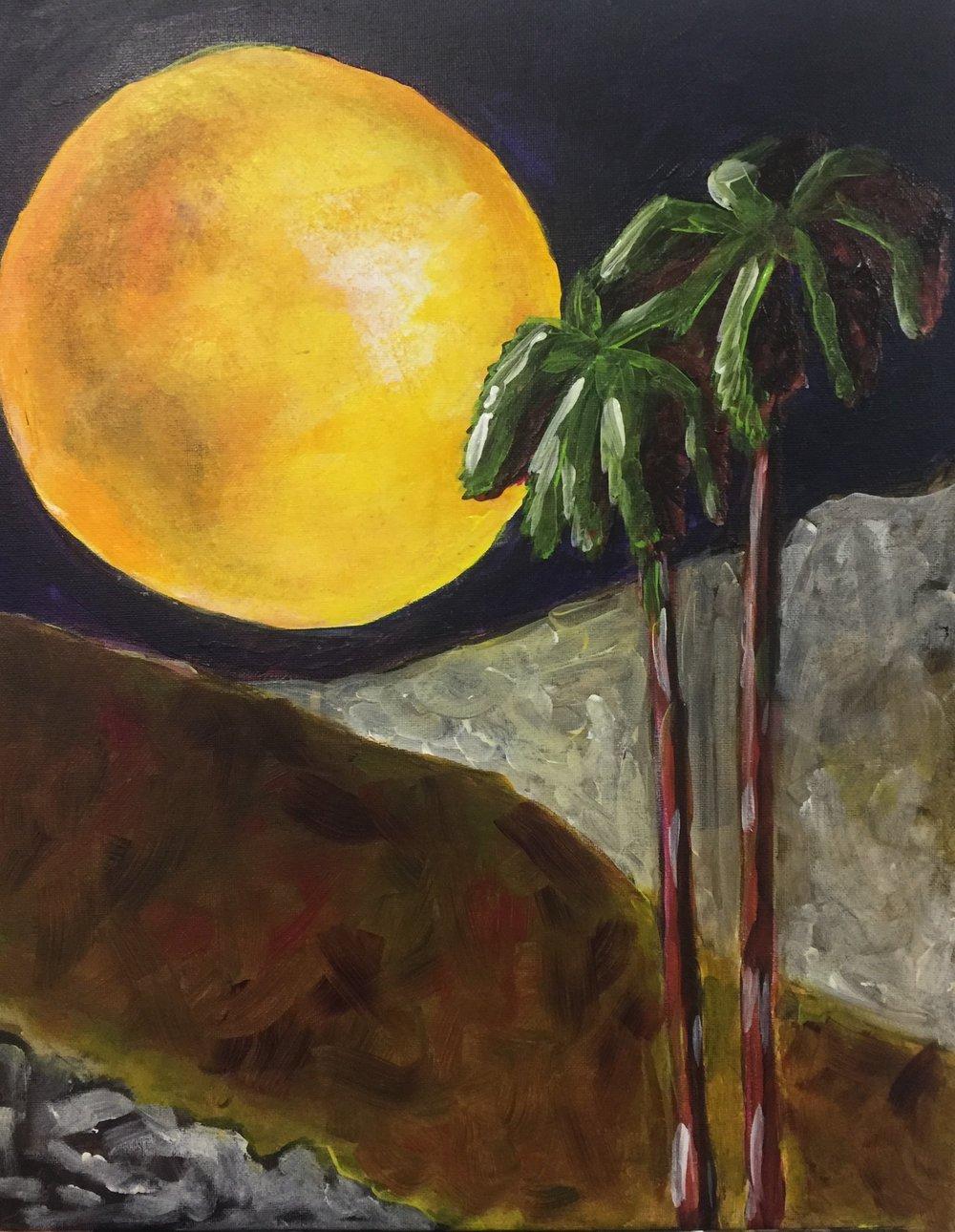 Harvest Moon - 16 x 20