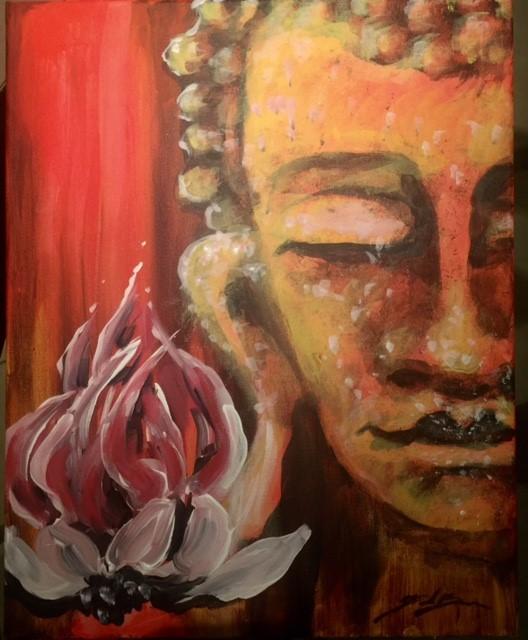 Buddha Baby! - 16 x 24