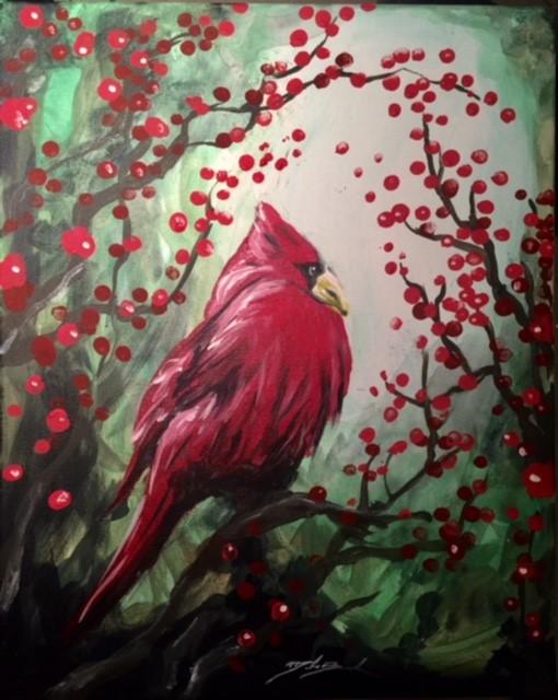 Winter Berries - 16 x 20