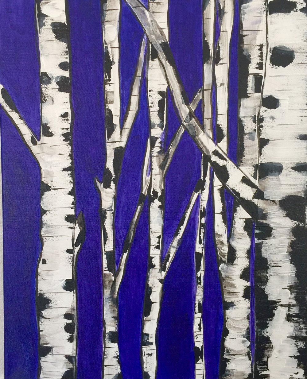 Birch Trees - 16 x 20