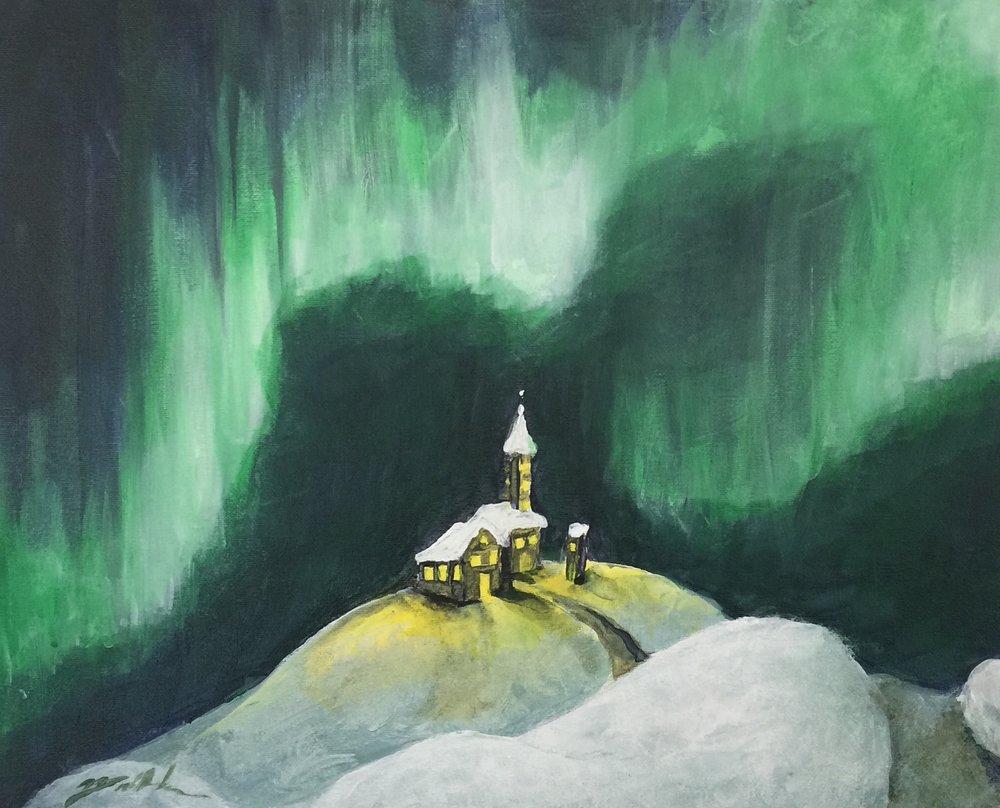 Northern Lights - 16 x 20