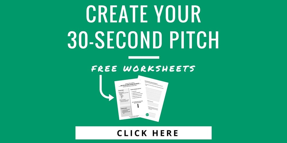 elevator pitch worksheets
