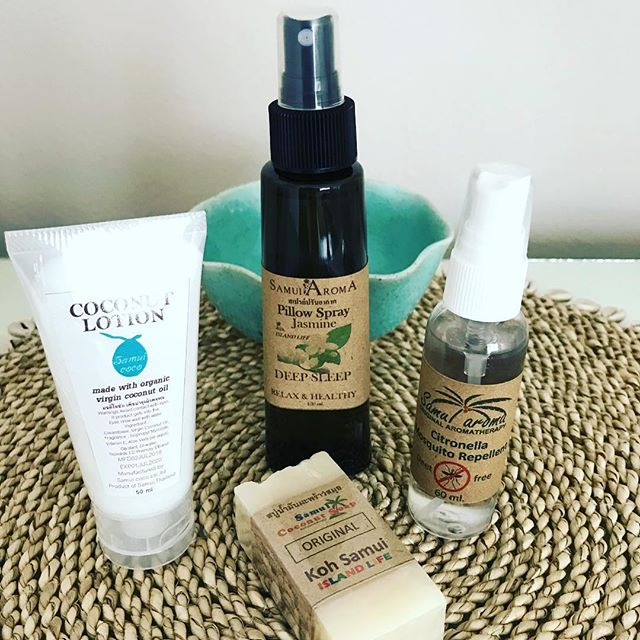 Sustainable coconut toiletries are available for guests use at Baan Jasmine villa! We are supporting local Thai businesses. These products are made from mountain water and Virgin Coconut oil, the aroma is so good!