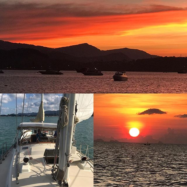 Stunning sunset sailing on Geronimo just one of Sailing in Samui stunning boats! #sailinginsamui #sailing #tripadvisor #airbnb #sunset #kohsamui