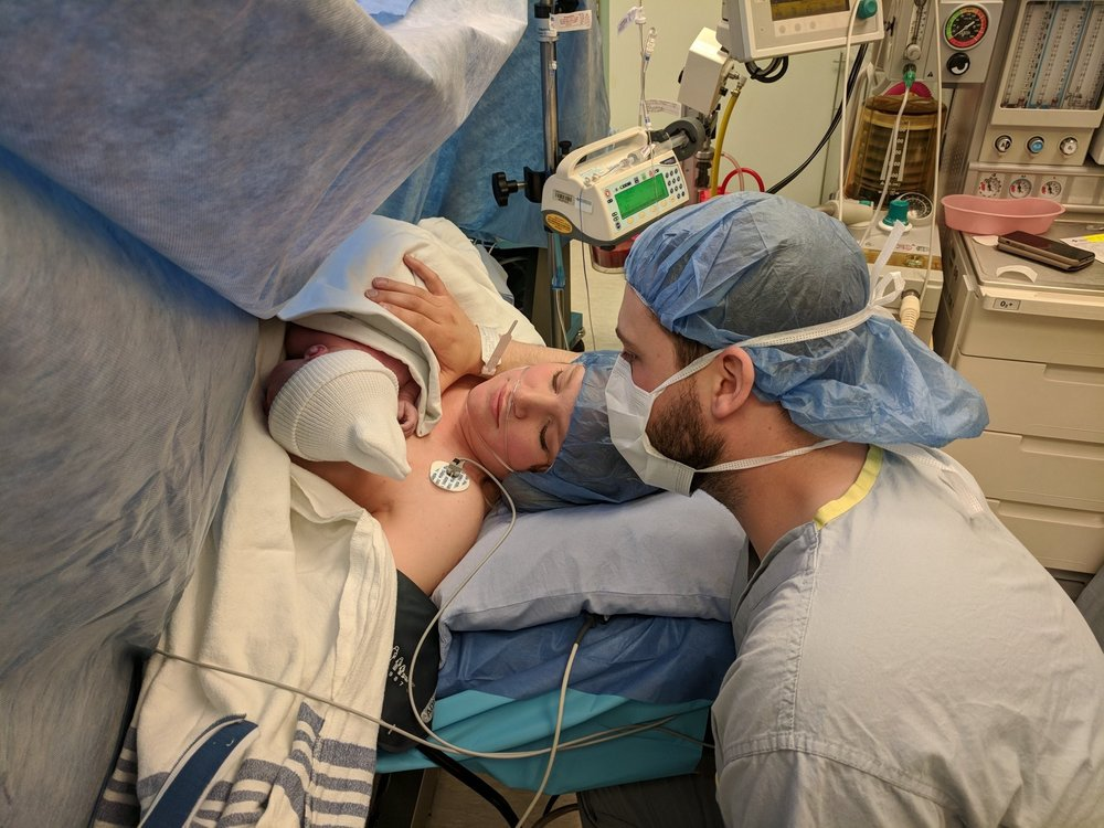 Just a few minutes old... He turned his head away before this pic was taken!
