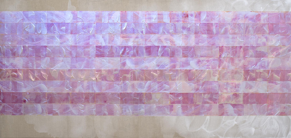 The two lives , 2016, acrylic on linen, 183x87cm.