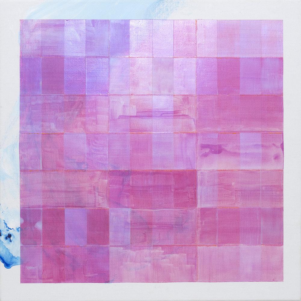 A will (a heart) - Teresa , 2015, acrylic and crayon on linen, 56x56cm.