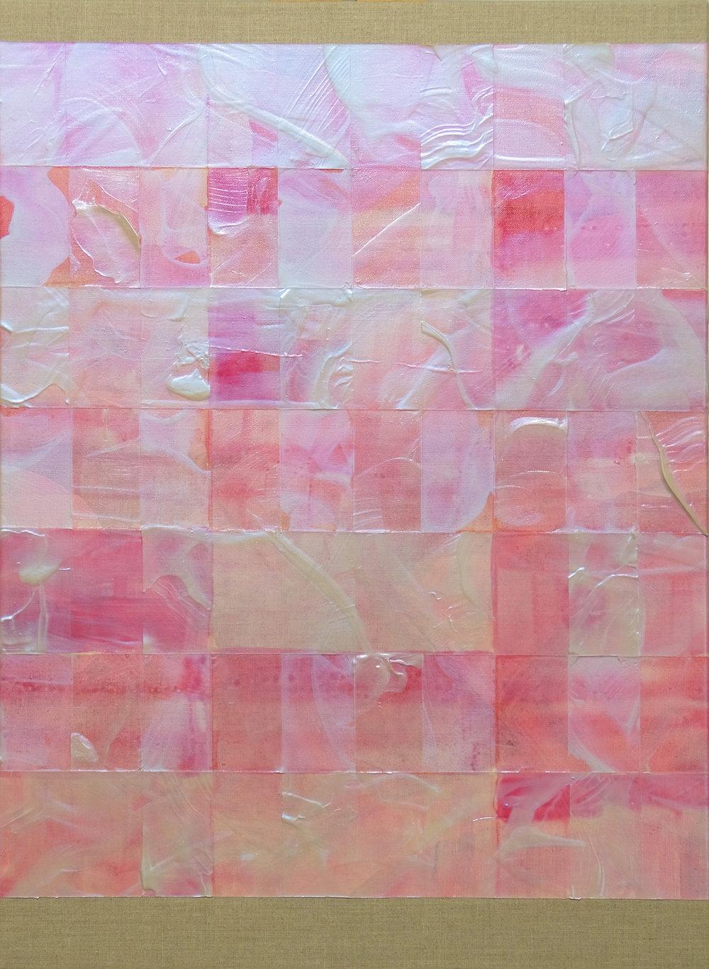 Lean into , 2015, acrylic on linen, 56x41cm