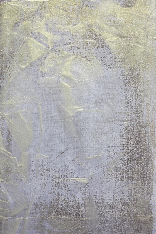 Brief , 2014, acrylic on Japanese Magnolia, 30x20cm