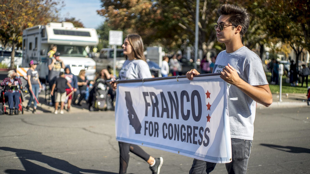 Franco for Congress volunteers participating in the 2017 Veterans Day Parade