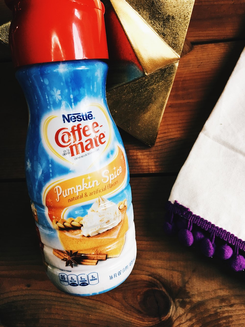 I used Nestle Coffee-Mate Pumpkin Spice Creamer. I LOVE this stuff!