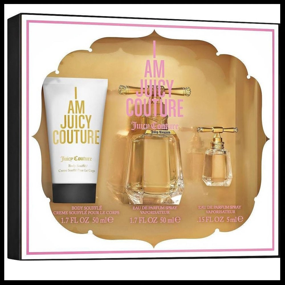 I am Juicy Couture by Juicy Couture Women's Fragrance Gift Set - $39.99 - Who can resist a good gift set? This gift set by Juicy Couture includes a body soufflé, a full and miniature sized bottle of perfume spray. This fragrance opens with a bouquet of tropical fruit and slight notes of candied amber. It's a lovely fragrance and an excellent stocking stuffer.