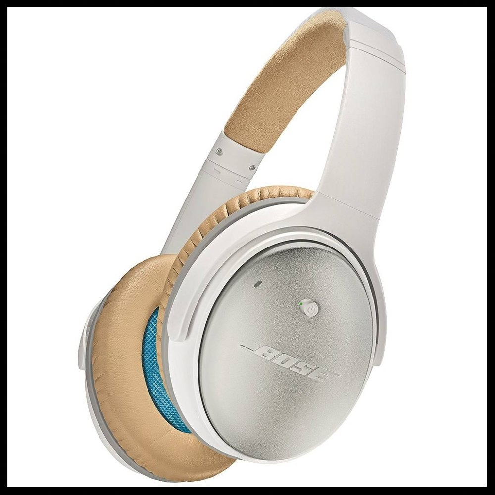 Bose® QuietComfort® Headphones - $179.99 - An absolute essential for the music lover in your life. These durable white headphones are accented with a matte gold finishes which make the set adorably chic.