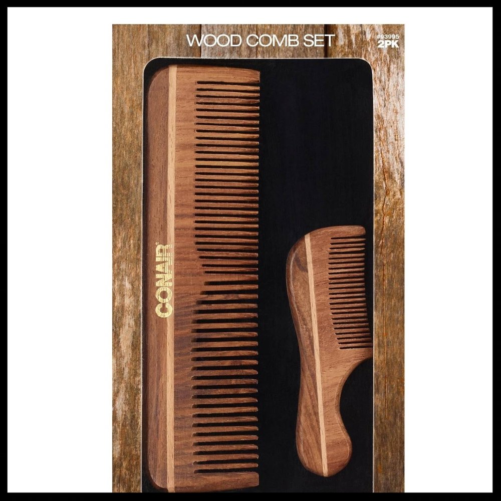 Conair Wood Comb Set - $10.00 - Functional yet stylish, your man will absolutely love the natural feel of this comb set.