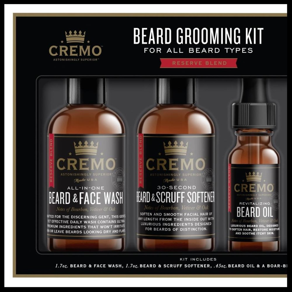 Cremo Beard Grooming Kit - $15.00 - Is the man in your life sporting an immaculate beard? Well, gift your guy this exceptionally handy Cremo Beard Grooming Kit. This luxurious grooming kit makes a great stocking stuffer.