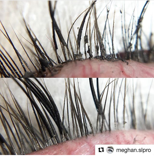 Mascara build up on Lash Extensions