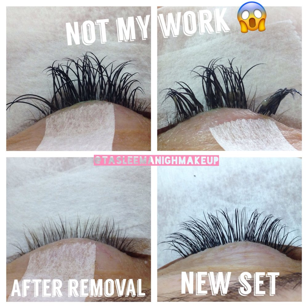 Not all Eyelash Extension stylists are the same! - Tasleema has seen and heard many a bad lash story from her clients. From terrible glue fumes during application, eyes burning for days, rough/painful  application, conjunctivitis and extensions that poke and rub until your eyes are sore.  Remember these are your eyes and your vision you are putting in someone else's hands. It's so important to book with a lash technician who is reputable, trained, experienced and who cares to look after you and your eye health.Training is very important to Tasleema. She has completed three lash courses from various Australian trainers who are at the top of their field. Lash extensions are an art that take constant practice and learning to achieve the best results.Don't let this happen to you!