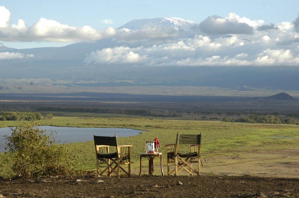 Sundowner Overlooking Mt. Kilimanjaro at Amboseli Serena.jpg