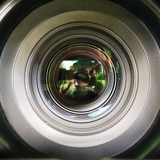Looking down the barrel of a 135mm Zeiss cinema lens