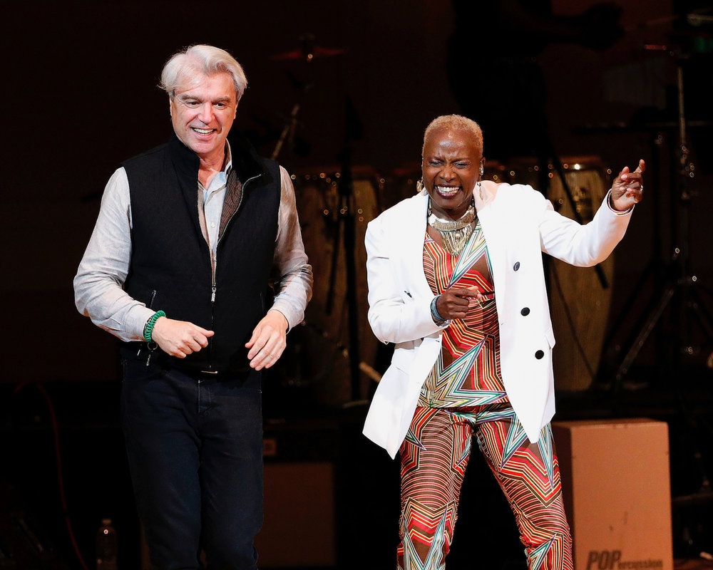 Angelique with David Byrne -  Carnegie Hall