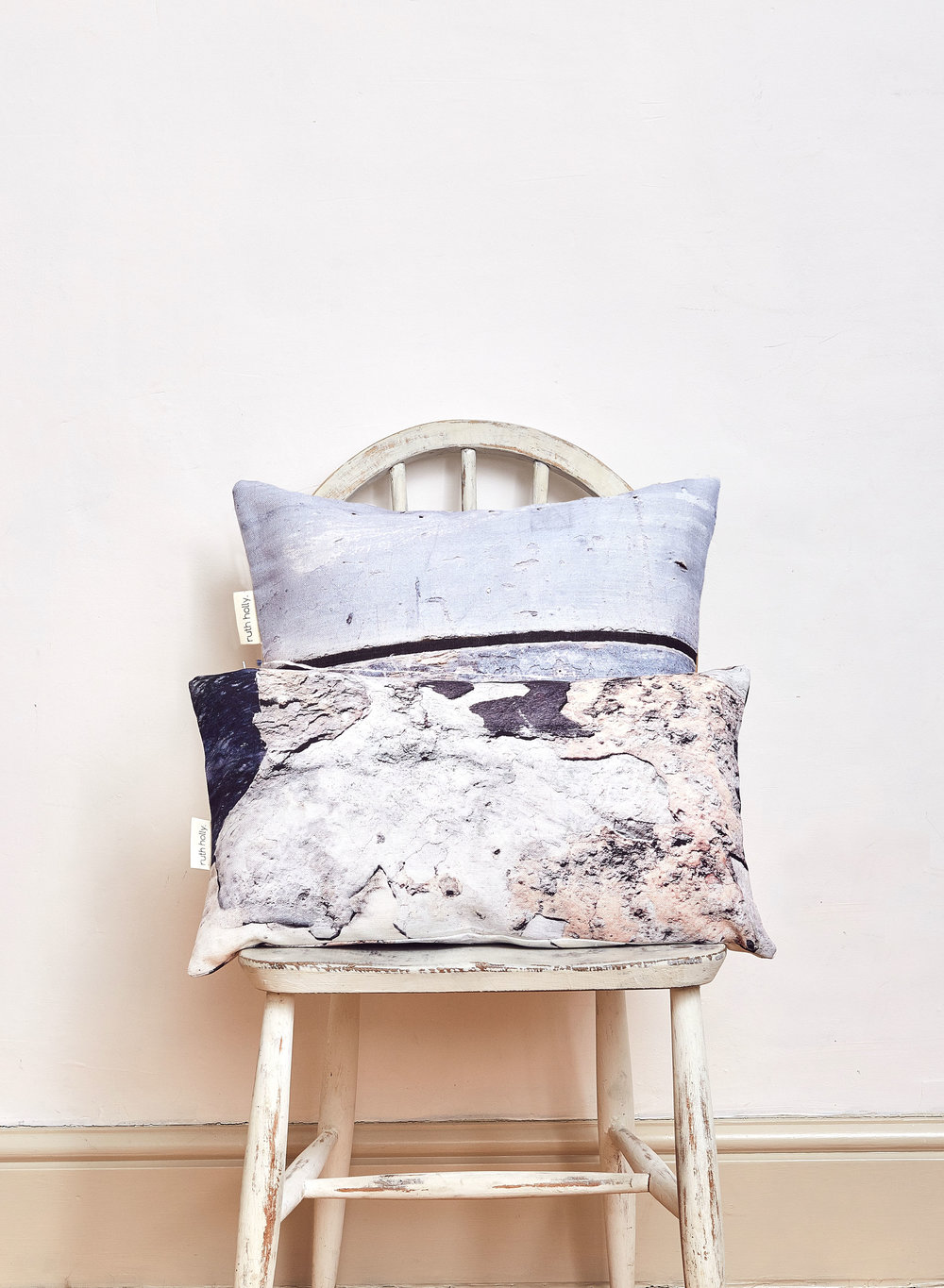 New textures coastal inspired linen cushion