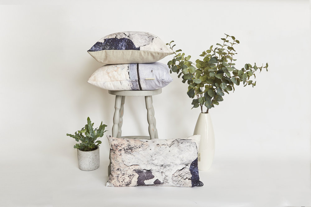 coastal inspired linen cushion, textured