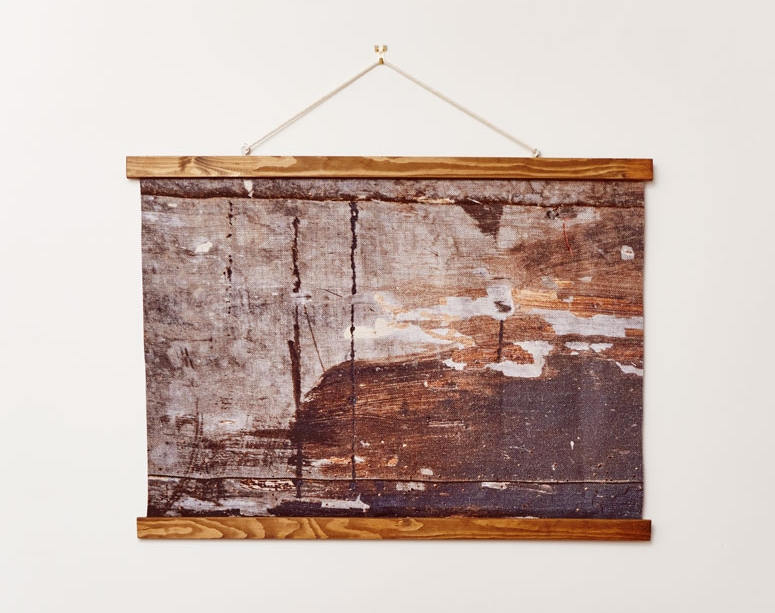 Wholesome linen wall hanging